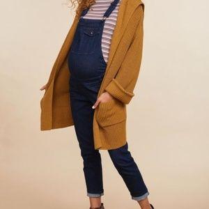 Destination Maternity Jeans - Side Panel Skinny Leg Maternity Overalls